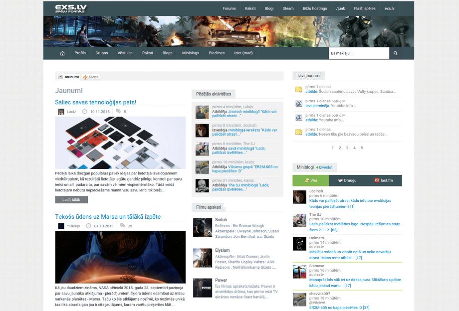 EXS spēļu portālāls
